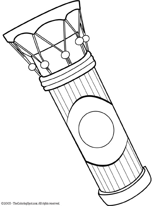 rhythm instrument coloring pages - photo#3