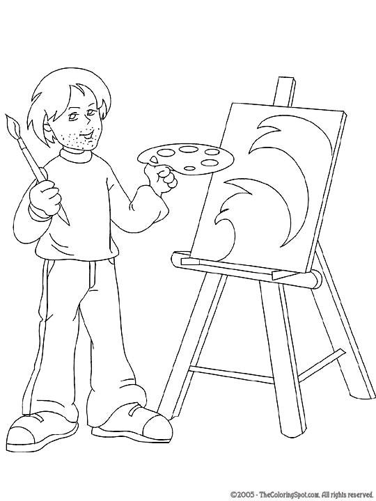 Artist Audio Stories for Kids Free Coloring Pages from Light