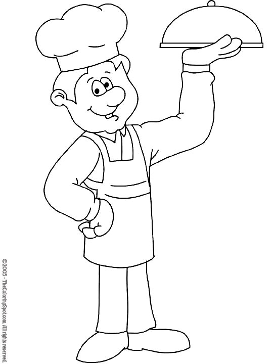 Chef Audio Stories for Kids Free Coloring Pages from Light Up