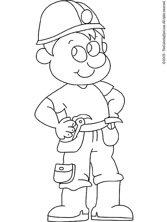 Construction Worker | Audio Stories for Kids & Free Coloring Pages ...