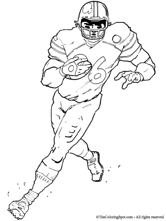Football Player | Audio Stories for Kids & Free Coloring Pages from ...
