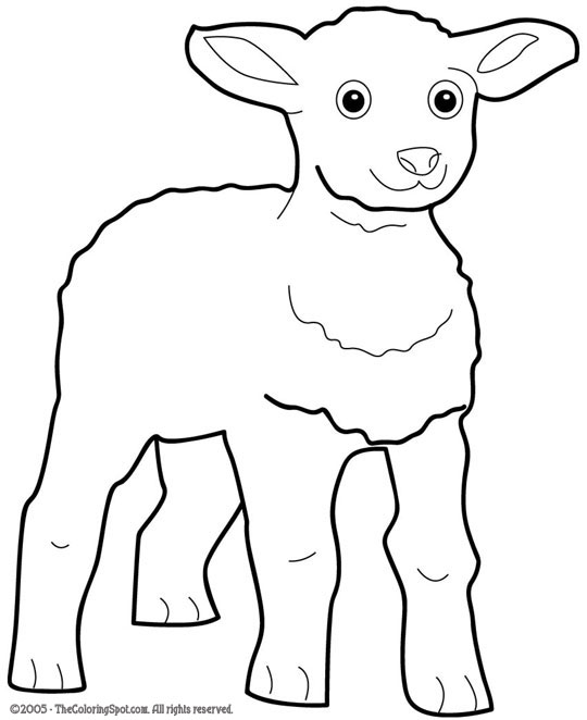 Lamb Coloring Page Audio Stories For Kids Free Coloring