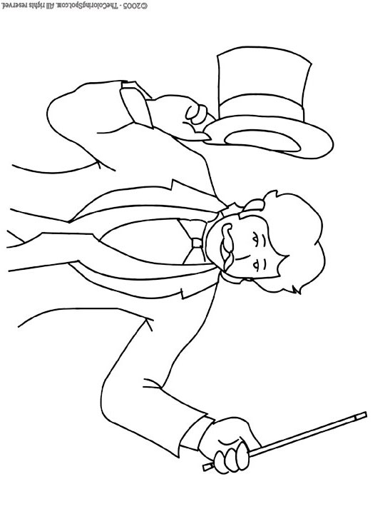 Magician Teddy Colouring | My Free Colouring Pages | 720x540