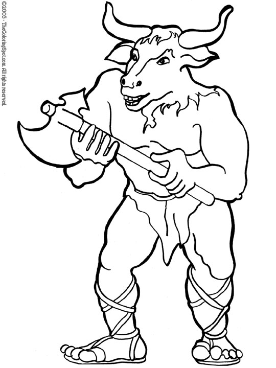 Minotaur 3 Audio Stories For Kids Free Coloring Pages