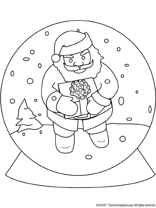 santa-in-snow-globe