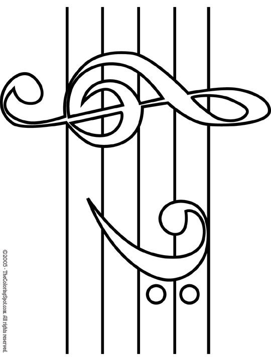 Treble & Bass Clef Coloring Page Audio Stories For Kids Free Coloring  Pages Colouring Printables