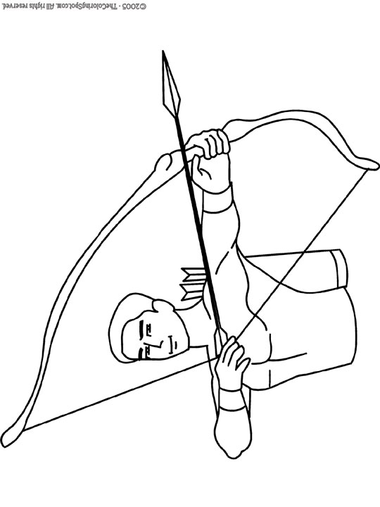 Archer Coloring Page Audio Stories For Kids Free Coloring Pages Colouring Printables