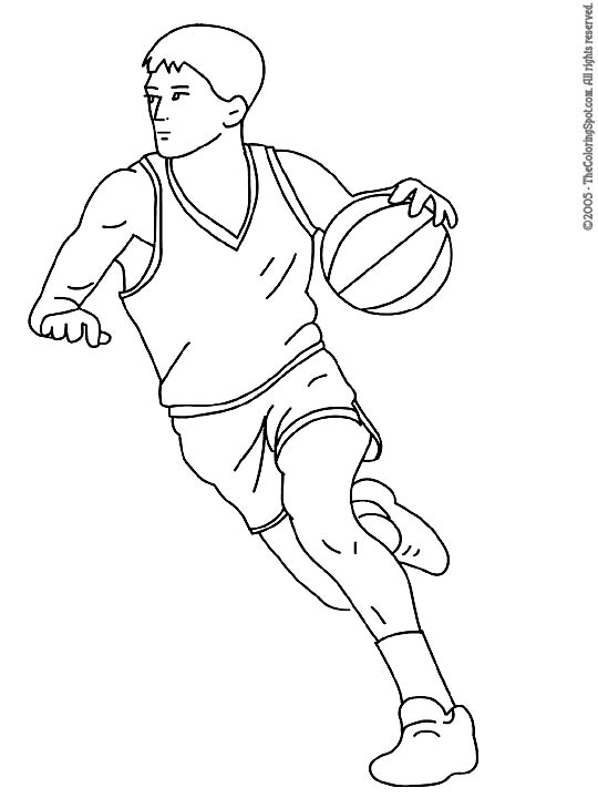 Basketball Player Coloring Page Audio Stories For Kids