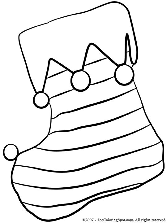 Christmas Stocking Coloring Page 1 Audio Stories For Kids