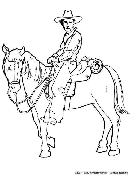 Cowboy Horse Coloring Page 3 Audio Stories for Kids