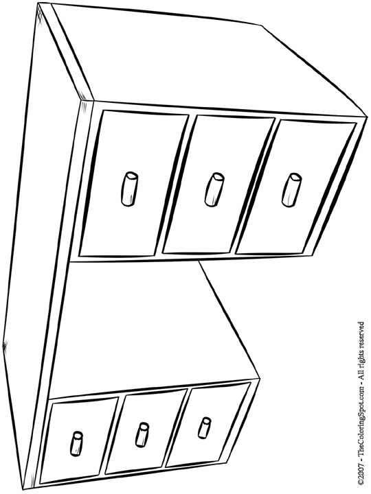 desk coloring page
