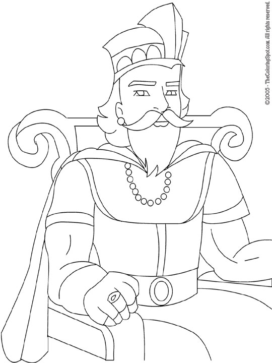 King Coloring Page Audio Stories For Kids Free Coloring