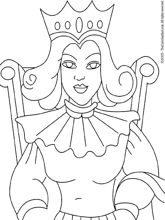 queen | Audio Stories for Kids & Free Coloring Pages from Light Up ...